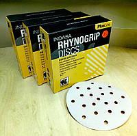 Абразивный диск INDASA RHYNOGRIP Plus Line ULTRAVENT - P180, D150, 21 отверстие.