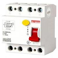 УЗО 25A 30mA 10kA 4 полюса тип AC i0220004 e.industrial.rccb.4 E.NEXT