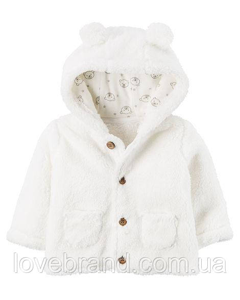 Худди Sherpa Hooded Jacket Carter's для девочки белый 18 мес/78-83 см