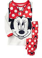 Пижама Minnie Mouse Gap для девочки белый 2Т/86-93 см