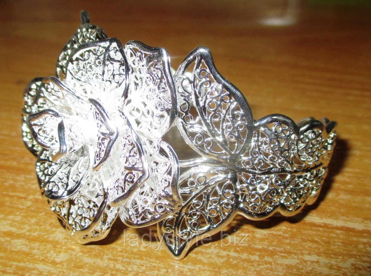 """Шикарный серебряный  браслет """"Роза пустыни"""" от студии LadyStyle.Biz"""
