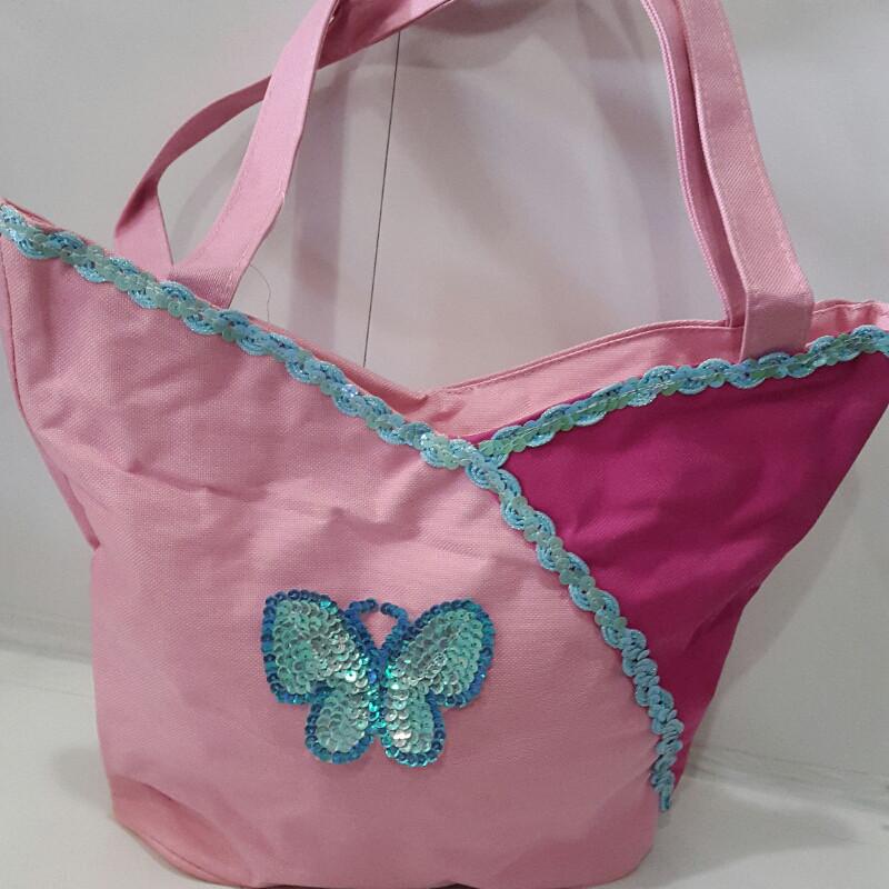 Женская розовая сумка «Бабочка» 24х24 см