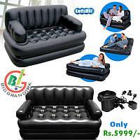 Надувной, матрас, диван, кровать, кушетка, софа, трансформер, 5в1, с,  электро насосом
