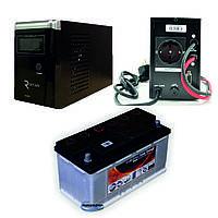 Система резервного питания для газового котла RITAR 600 + KMBattery 85 Ач