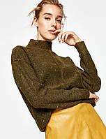 Стильный свитер вязка с люриксом под горло KOTON турция
