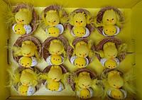 Пасхальные цыплята 12шт в упаковке, 3 вида