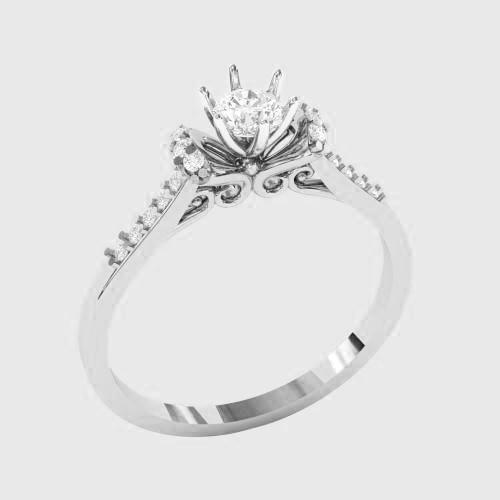 Кольцо  женское серебряное Совершенство КБ-1538