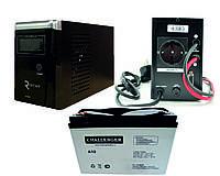 Система резервного питания для котла отопления RITAR 600 + AGM Challenger 40Ач