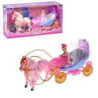 Лялька з каретою та конем 28922B, в коробці 44*13*22 см