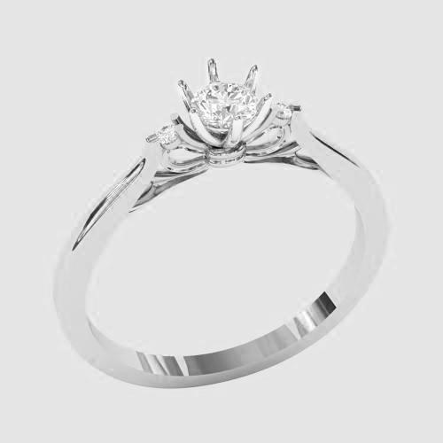 Кольцо  женское серебряное Совершенство КБ-1539
