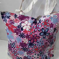 Яркая женская сумка в цветочек «Весна» 32х27 см, фото 1