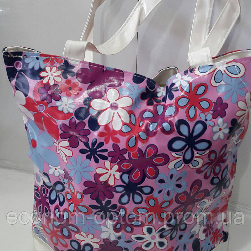 Яркая женская сумка в цветочек «Весна» 32х27 см