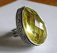 """Шикарное кольцо """"Капля"""" с цитрином, размер 18  от студии LadyStyle.Biz"""