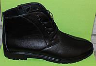 Женские ботинки кожаные на шнурках, женская обувь кожа от производителя модель В1603