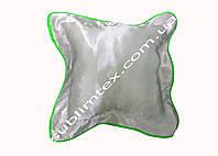 Подушка атласная,натуральный наполнитель,метод печати сублимация,размер 35х35см,цвет Каймы салатовый