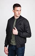 Стильный мужской бомбер темно-синий , верх плащёвка «Alaska», мужская курточка ветровка на весну лето недорого
