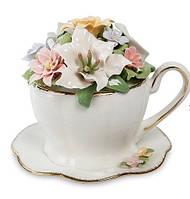 """Порцеляновий музична композиція """"Чашка з квітами"""" (Pavone) CMS - 33/11"""