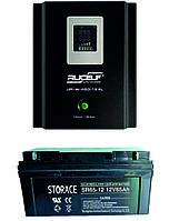 Система резервного питания для котла RUCELF 600 + STORACE 65 Ач