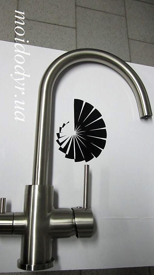 Смеситель AquaSanita  Akvaduo 2963 (002 inox) с подключением к водному фильтру