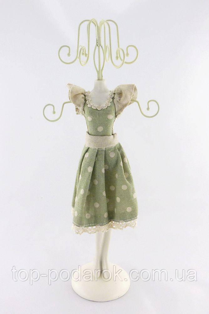 Подставка для украшений платье зеленое