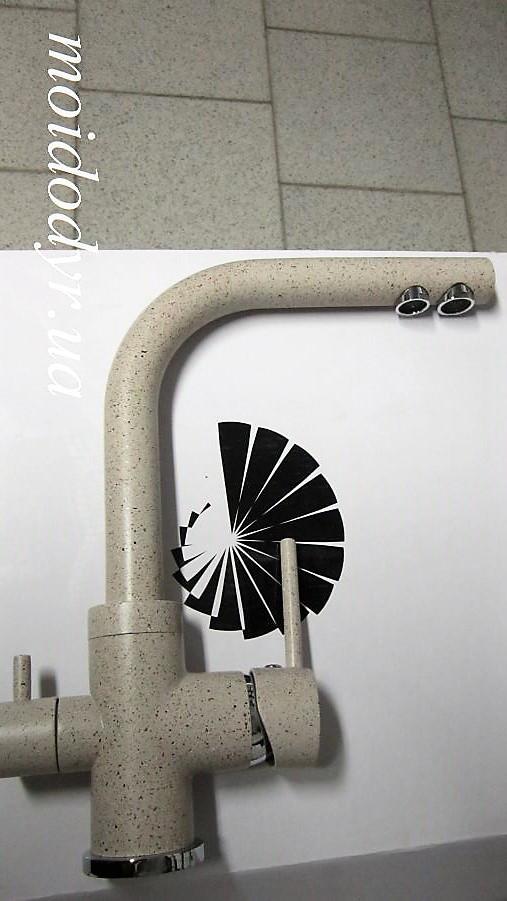Смеситель AquaSanita Akvaduo 2663 гранит (112 - ора) с подключением к водному фильтру
