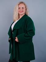 Софи. Пальто на осень для больших размеров. Бутылка.