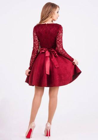 Нарядное платье женское Вилена цвет бордовый размер 42,44,46 , фото 2