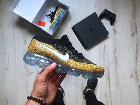 Мужские кроссовки Nike Vapormax multicolor топ реплика, фото 2