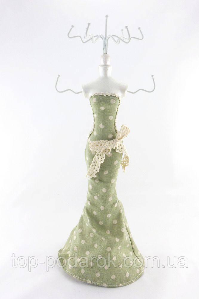 Подставка для украшений зеленая