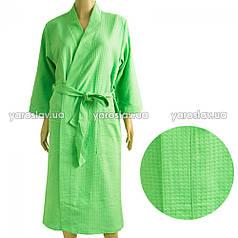 Вафельный халат ТМ Ярослав, зеленый