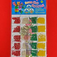 Orbeez четырехцветные растущие шарики на планшете Seven colour crystal ball 4000 шт