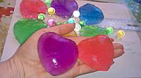 Orbeez растущие шарики в форме сердца Seven colour crystal ball набор 3 шт