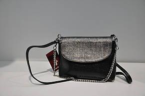 Черный клатч кожаный 0154-0928, фото 2