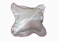 Подушка атласная,натуральный наполнитель,метод печати сублимация,размер 35х35см,цвет Каймы розовый