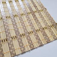 Бамбук на стол с золотой нитью.размер 60×90 (светлое дерево)