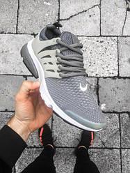 Кроссовки Nike Air Presto Ultra Flyknit светло - серые топ реплика