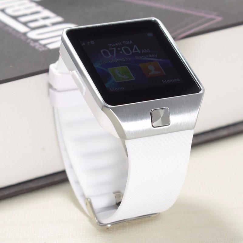 Умные смарт часы Smart Watch DZ09. Часы-телефон с камерой. Белый цвет White 366eed7a823