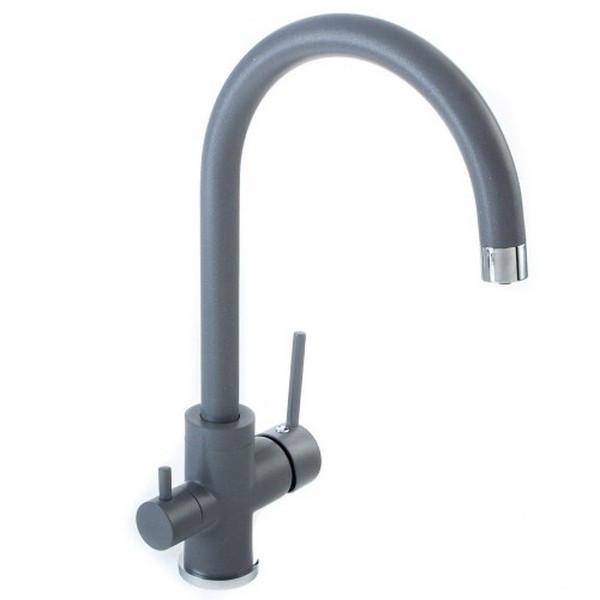 Смеситель AquaSanita Sabiaduo 2963 (202 алюметаллик) с подключением к водному фильтру
