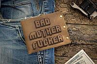 Мужской кожаный кошелек ТатуНаКоже, криминальное чтиво, фото 1