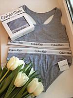 Женский комплект спортивного белья Calvin Klein серый Трусики