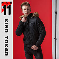 11 Kiro Tokao | Мужской бомбер  весенне-осений 9981 черный, фото 1