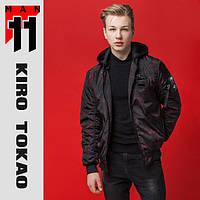 11 Kiro Tokao | Японский бомбер. Весна-осень 3312 черный-красный, фото 1