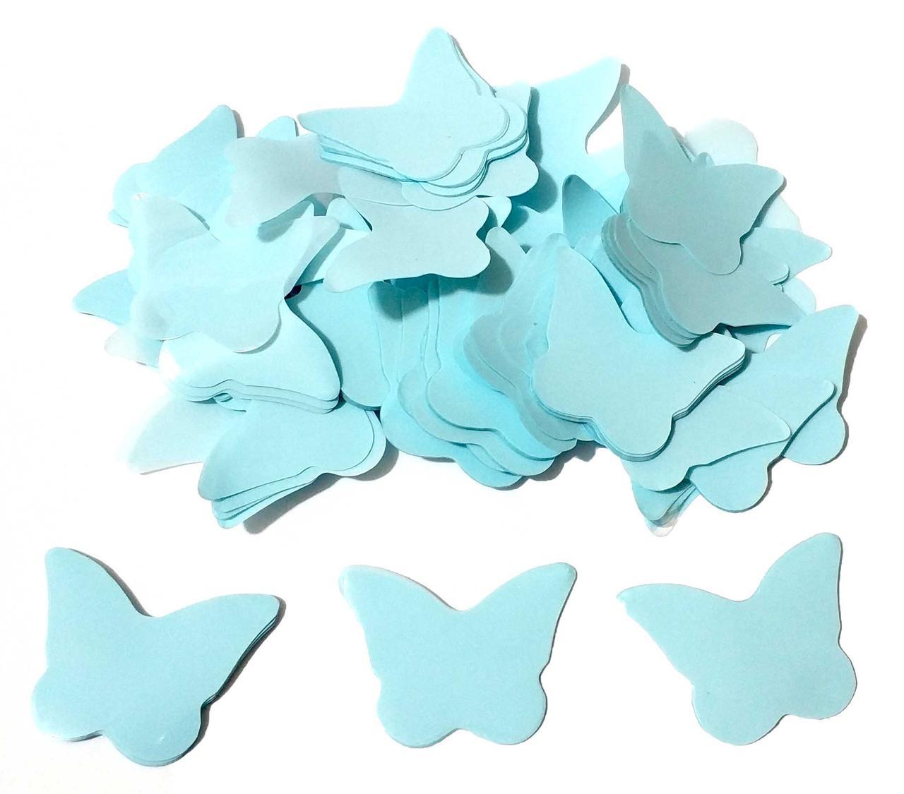 Конфетти бабочки бирюзовые . Вес:50гр.