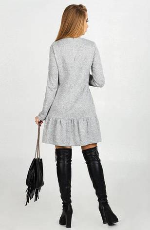 Нарядное платье женское Бренда ангора цвет серый  размер 44,46,48 , фото 2