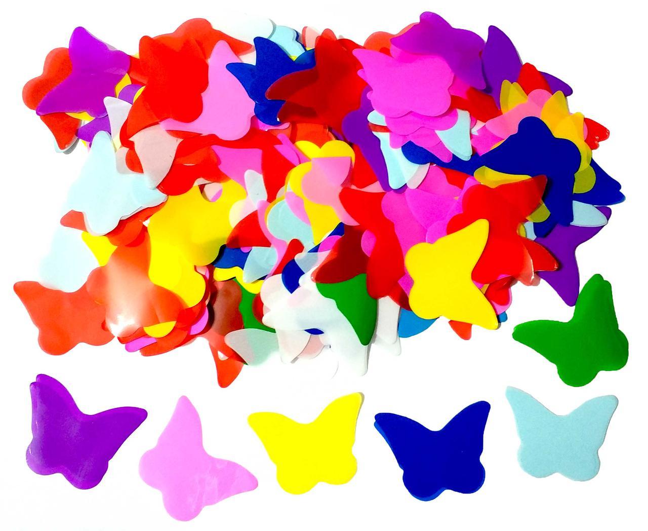Конфетти бабочки микс. Вес:50гр.
