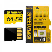 Remax оригинальная 64 ГБ TF микро SD Высокоскоростная карта памяти