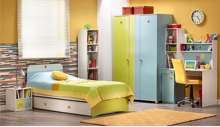 Шкаф в детскую split blue Cilek