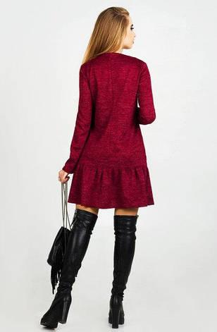 Нарядное платье женское Дина  бордовый цвет синий  размер 44,46,48 , фото 2
