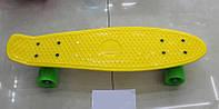 Penny пенни скейтборд Пластиковая рыба BT-YSB-0019 пластик.6цв.свет.PU колеса 50*15см 1,70кг