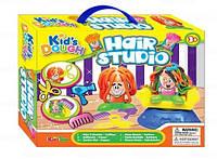 Набор для лепки Kid's Dough Art. 11678 Hair Studio Пластилин с отпечатками и аксессуарами 'Парикмахер'
